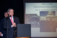 Congressman John Yarmuth speaking to Preservation Kentucky members.  Photo by Becky Gorman.
